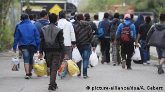 Deutschland Bayern Erstaufnahme Flüchtlinge