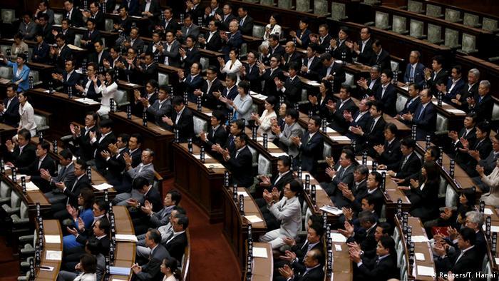 Japan Tokio Änderung Sicherheitspolitik Shinzo Abe