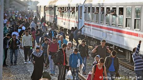 Flüchtlinge Kroatien Tovarnik Bahnhof