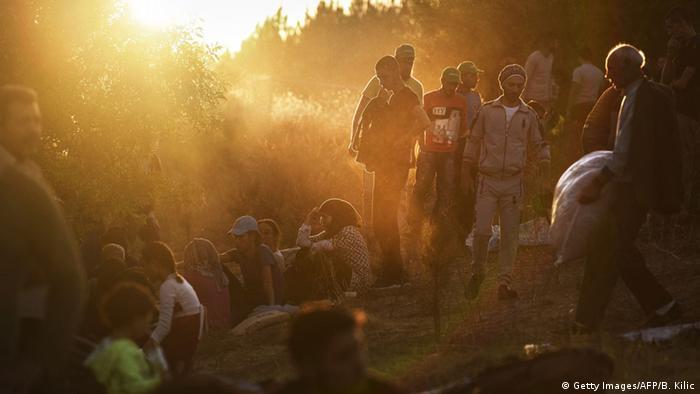 Flüchtlinge an der türkisch-bulgarischen Grenze