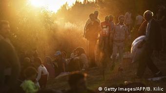 Flüchtlinge an der türkisch-bulgarischen Grenze (Foto: BULENT KILIC/AFP/Getty Images)