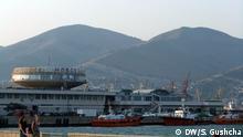 Hafen von Noworossijsk (English: Novorossiysk), russische Stadt am Schwarzen Meer. Aus dem Hafen sollen nach Medienberichten russische Waffen und Militärtechnik, sowie auch Soldaten nach Syrien verschifft werden. DW/Sergey Gushcha