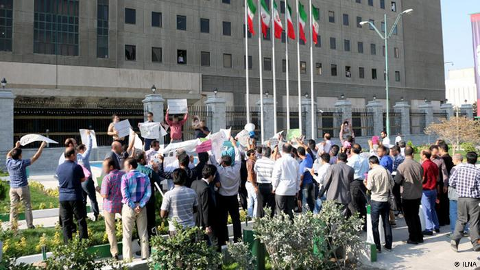 Iran Demonstration Arbeiter Auto-Industrie