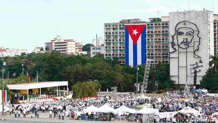 Kuba Havanna Papst Franziskus Messe am Platz der Revolution