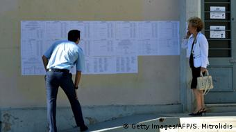 Griechenland Athen Wahlen Wahllokal