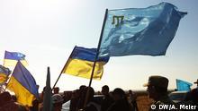 Ukraine, Krim, Kherson, Krim-Tataren und Rechtsextreme blockieren Lkw-Lieferungen zur Krim Zu: Artikel über die Blockade der LKW-Lieferungen zur Krim *** DW-Korrespondentin in der Ukraine Anna Meier