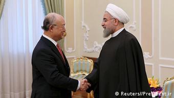Iran Besuch Yukia Amano Generaldirektor IAEA mit Hassan Rouhani