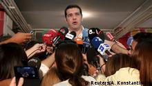 Griechenland Athen Wahlen Wahllokal Alexis Tsipras