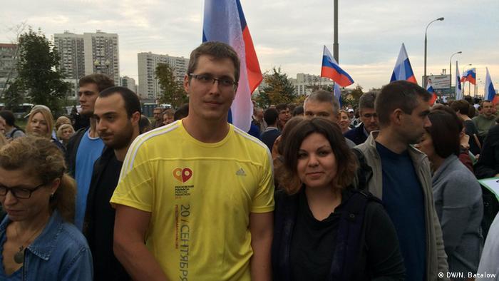 Russland Kundgebung der Opposition mit Alexei Nawalny