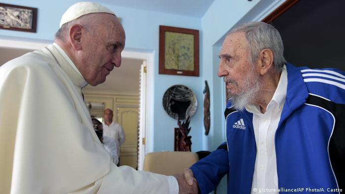 Kuba Havanna Papst Franziskus und Fidel Castro