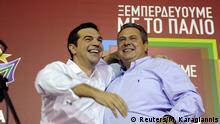 Griechenland Athen Wahlen Alexis Tsipras und Panos Kammenos