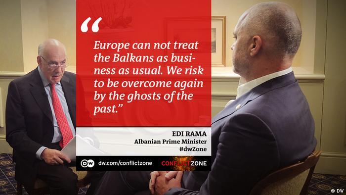 Edi Rama bei Conflict Zone Zitattafel