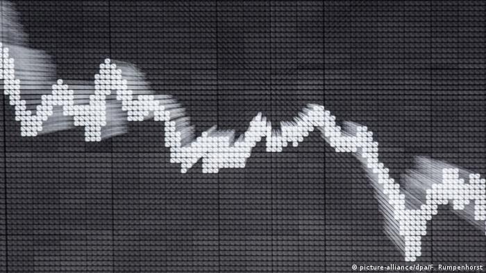 Symbolbild - Fallende Aktien