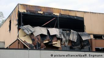 Wertheim - Brandanschlag Notunterkunft Flüchtlinge