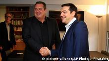 Griechenland Alexis Tsipras mit Panos Kammenos Koalitionsgespräche