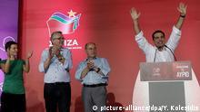 Griechenland Syriza Tsipras und Gysi auf Kundgebung