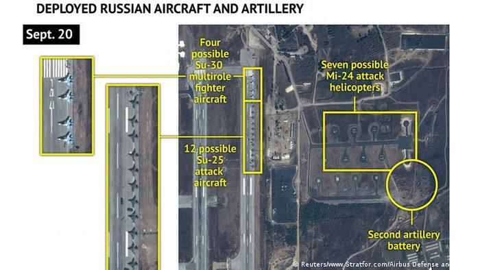 Syrien Satellitenbild zeigt russische Flugzeuge auf Luftwaffenstützpunkt bei Latakia