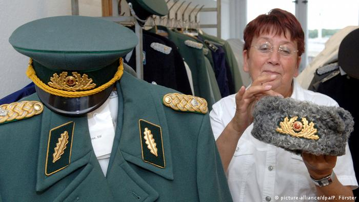 They ended up in a museum: uniforms of GDR's National Army and the Police