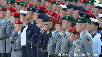 Солдаты на принятии военной присяги