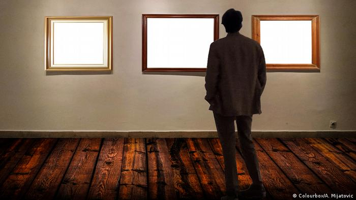Symbolic image of museum with empty frames, Copyright: Colourbox/A. Mijatovic