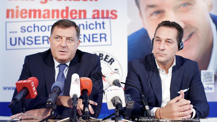 Österreich Besuch FPÖ-Einladung Milorad Dodik Republika Srpska