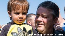 Jordanien Wirtschaftsminister Gabriel besucht das Flüchtlingslager Saartari