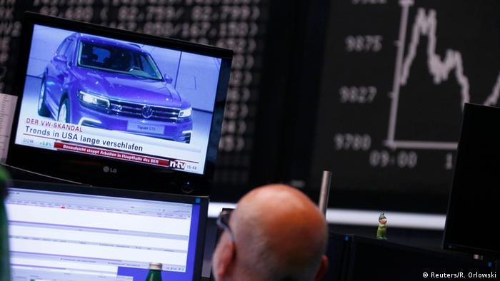 Deutschland VW Skandal Aktienverluste an der Börse