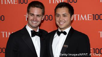 Snapchat Gründer Evan Spiegel & Bobby Murphy (Getty Images/AFP/T. A. Clary)