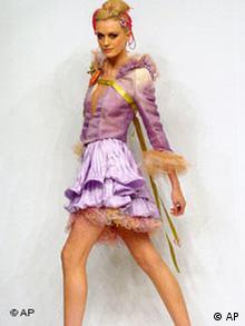 A blonde model posing