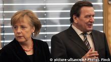 Angela Merkel und Gerhard Schröder
