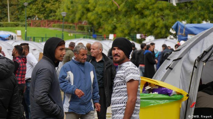 Belgien Brüssel Flüchtlingslager