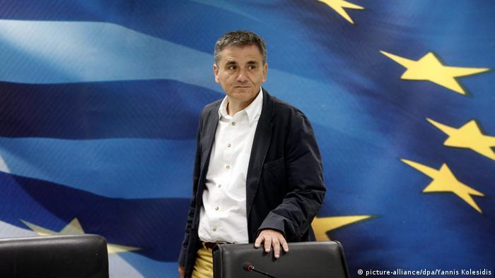 Euclid Tsakalotos Griechenland Finanzminister (picture-alliance/dpa/Yannis Kolesidis)