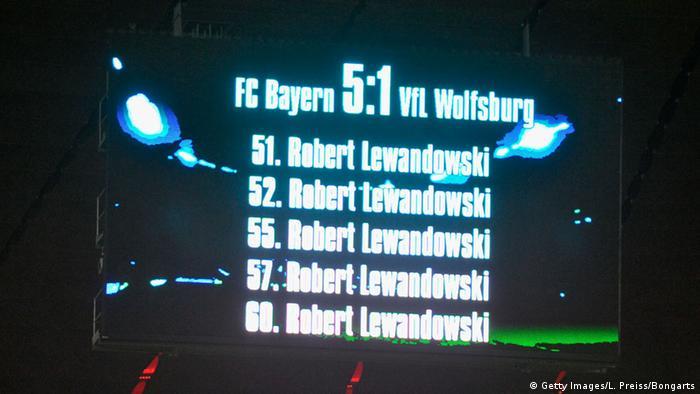 Fussball Turnier-Tabelle mit Lewandowskis 5 Toren