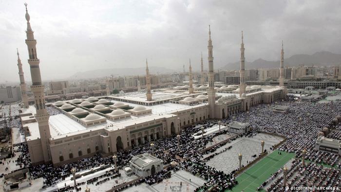 Saudi Arabien Prophetenmoschee in Medina (Foto: picture-alliance/epa)