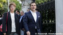 Griechenland Alexis Tsipras kommt zur Vereidigung der neuen Regierung in Athen