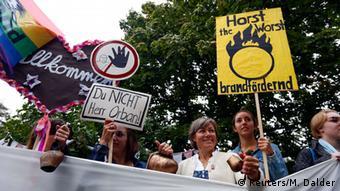 Deutschland Ungarn Proteste gegen Orban Besuch bei Bad Staffelstein