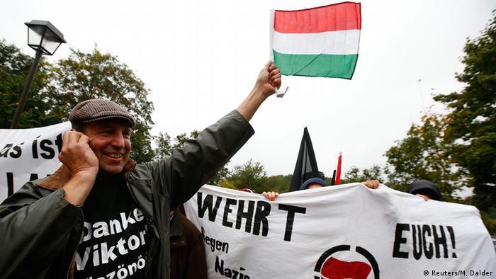 Deutschland Ungarn Orban Unterstützer bei seinem Besuch in Bad Staffelstein
