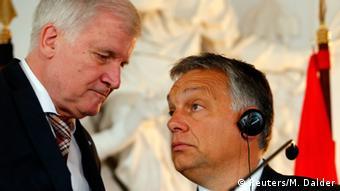 Deutschland Ungarn Seehofer und Orban PK