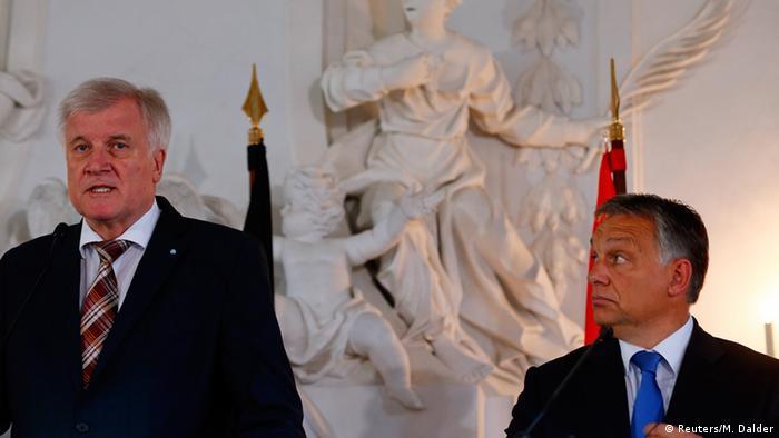 Горст Зеєгофер і Віктор Орбан після зустрічі в Німеччині