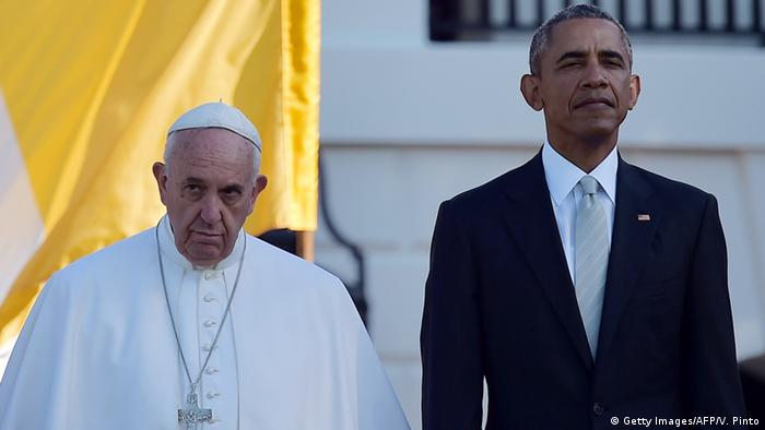 USA Washington Besuch Papst Franziskus mit Obama (Getty Images/AFP/V. Pinto)