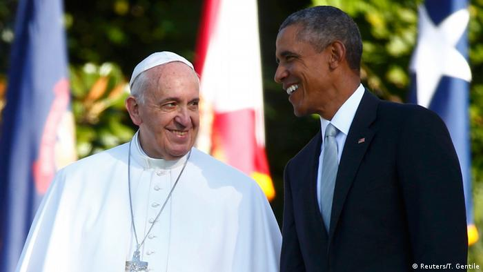USA Washington Besuch Papst Franziskus mit Obama (Reuters/T. Gentile)