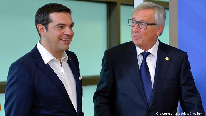 Der griechische Regierungschef Alexis Tsipras im September 2015 mit EU-Kommissionspräsident Jean-Claude Juncker