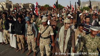 Houthi rebels in Sanaa