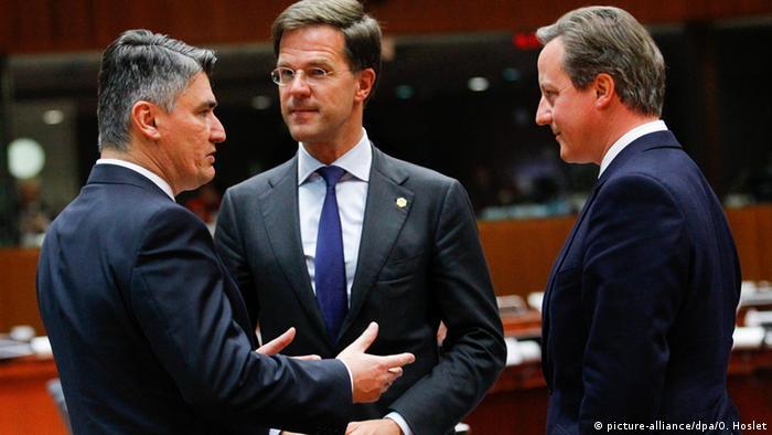 Milanović u dijalogu s EU-om (s Markom Rutteom i Davidom Cameronom)