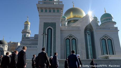 Bildergalerie Putin und Erdogan eröffnen Europas größte Moschee (Getty Images/AFP/V. Maximov)