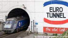 Zug Eurotunnel Frankreich