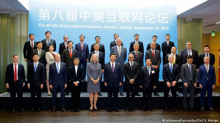 US China Internet Industrie Forum Seattle (picture-alliance/dpa/Ted S. Warren)