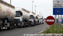 Serbien Kroatien Blockade an der Grenze bei Batrovci