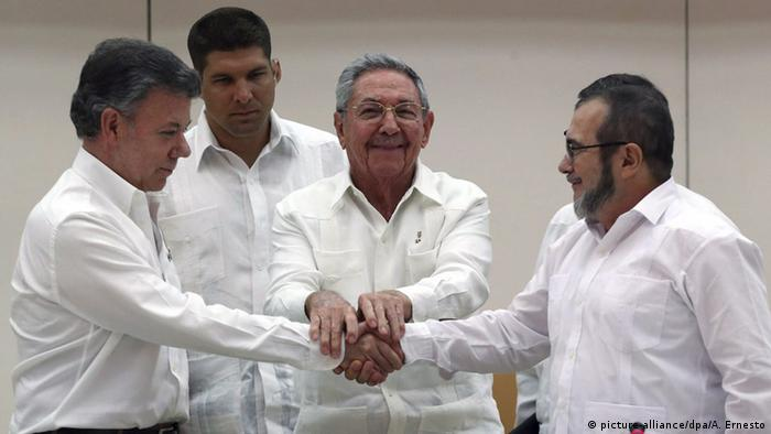 Kuba Havanna FARC Kolumbien Friedensabkommen Santos Castro Echeverry