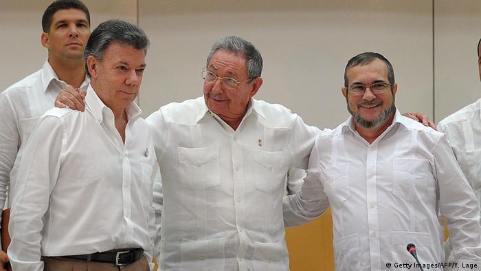 Kuba Friedensabkommen mit FARC Rebellen Kolumbien